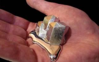 Какой металл плавится в руке