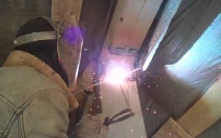 Как варить электросваркой потолочный шов