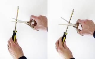 Как заточить старые ножницы