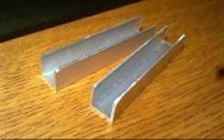 Как соединить алюминиевый профиль между собой