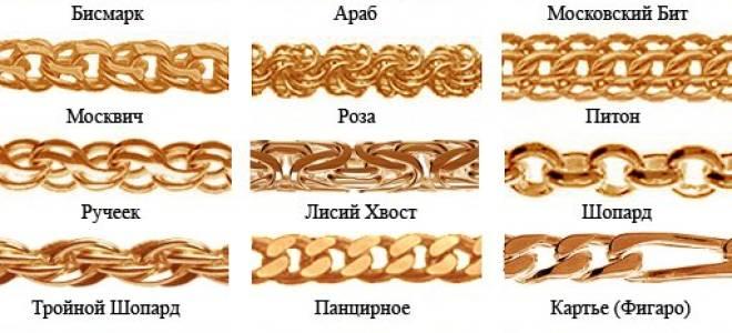 Виды и правила выбора плетения золотой цепочки