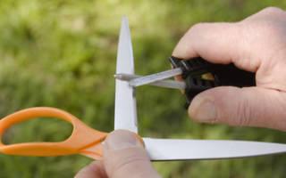Как правильно наточить ножницы