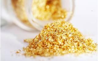 Свойства и применение пищевого золота