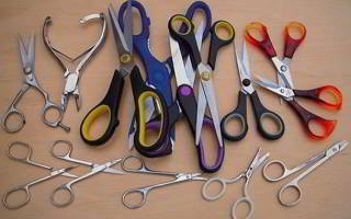 Как заточить зигзагообразные ножницы