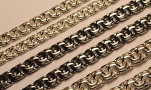 Разновидности плетения «бисмарк» для золотых цепочек