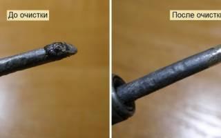 Как очистить жало паяльника нашатырем